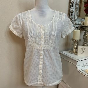 American Eagle Lace Detail Feminine Top S 0034